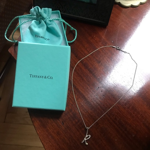 "Tiffany & Co. Jewelry - Tiffany & Co. Letter ""K"" Pendant Necklace"